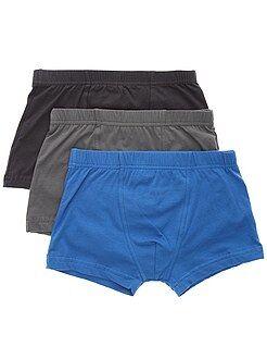 Ropa interior - Pack de 3 boxers lisos