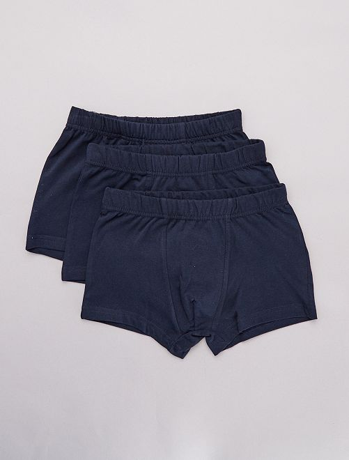 Pack de 3 boxers lisos                                         azul