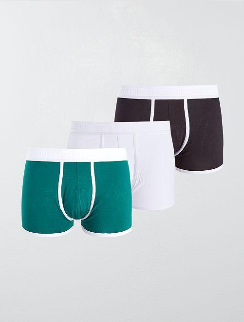 Pack de 3 boxers lisos elásticos                                                     NEGRO