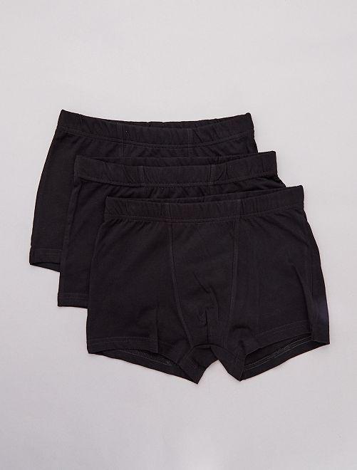 Pack de 3 boxers lisos                                         negro