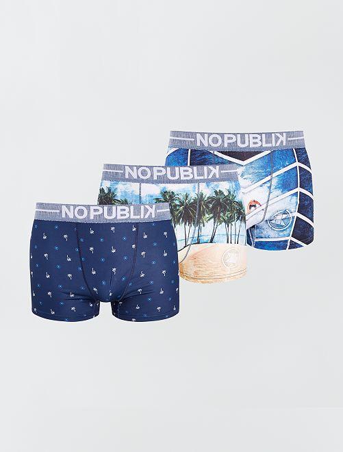 Pack de 3 boxers 'No Publik'                             multicolor