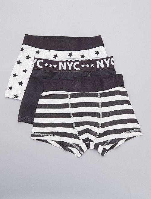 Pack de 3 boxers 'NYC'                             NEGRO