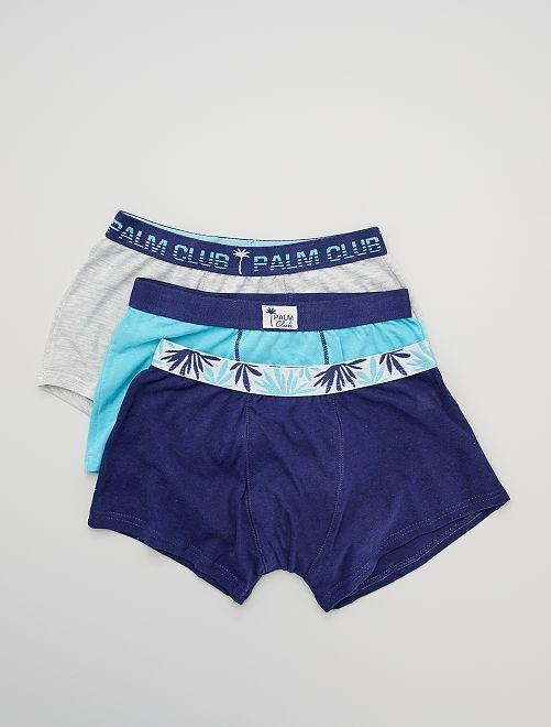 Pack de 3 boxers 'palmeras'                             BEIGE