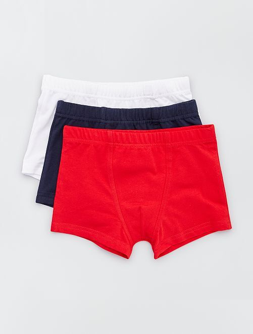 Pack de 3 boxers                                                     ROJO