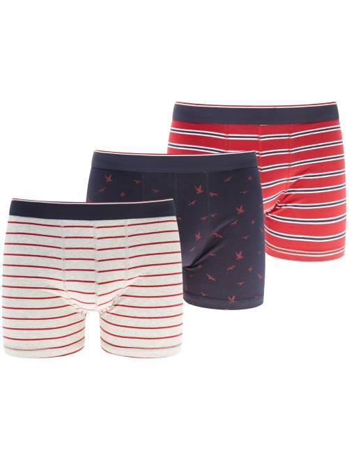 Pack de 3 boxers                                                     ROJO Hombre
