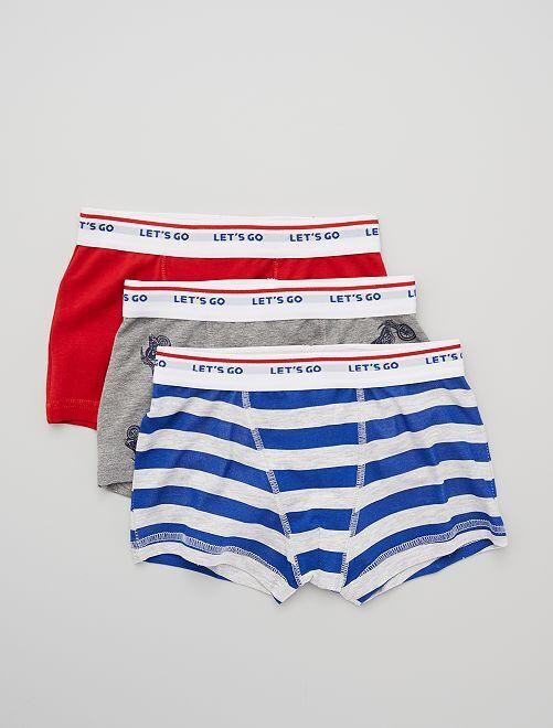 Pack de 3 boxers                                                                                                                                                                                                                                                                                                                 rojo/GRIS/azul