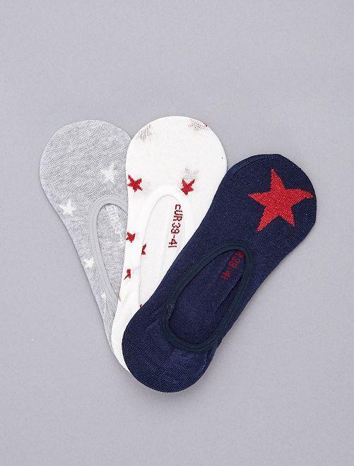 Pack de 3 calcetines cortos con brillos                                                                 AZUL Lencería de la s a la xxl