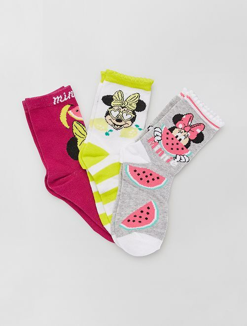 Pack de 3 calcetines de 'Minnie' de 'Disney'                                         BLANCO