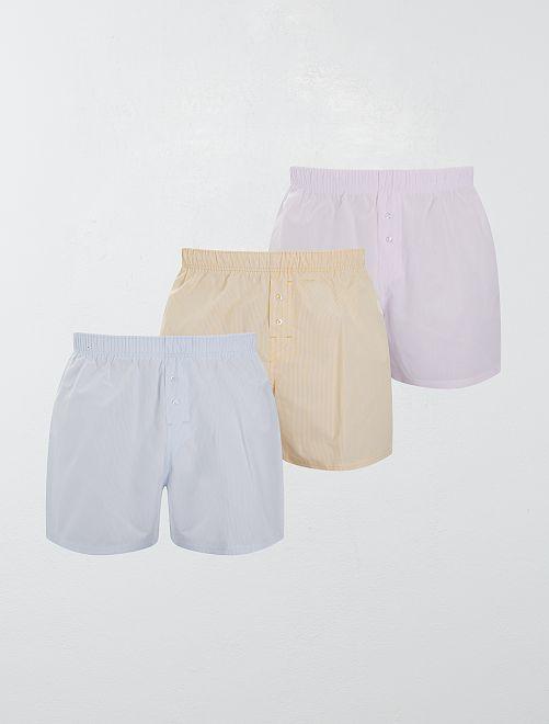 Pack de 3 calzoncillos de algodón puro                                                                                                                                                     AMARILLO
