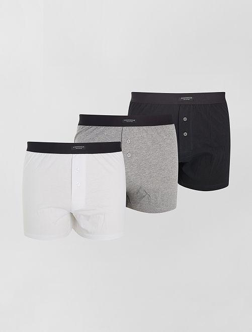 Pack de 3 calzoncillos eco-concepción                                         NEGRO