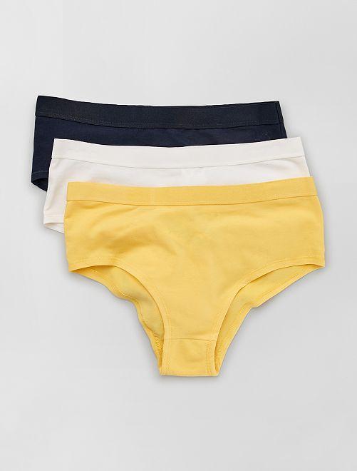Pack de 3 culottes                                                                 amarillo crema