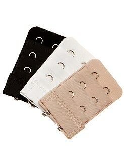 Accesorios lencería - Pack de 3 extensores de sujetador - Kiabi