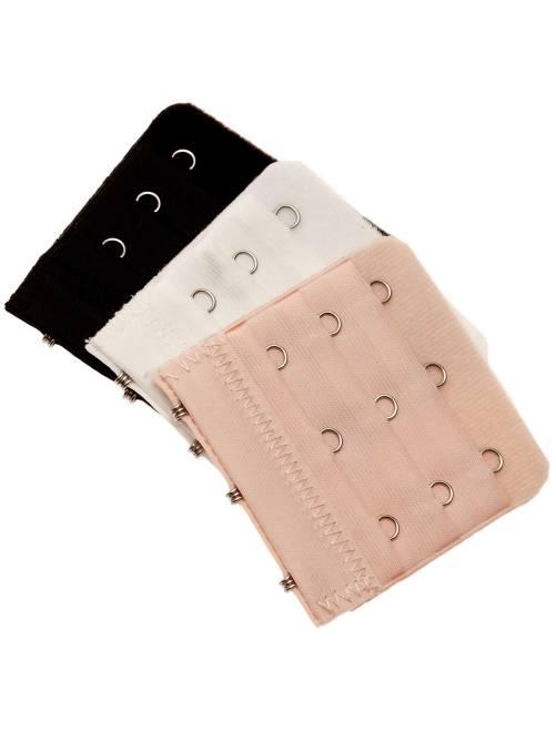 Pack de 3 extensores de sujetador                             negro/blanco/piel