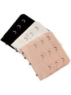 Accesorios lencería - Pack de 3 extensores de sujetador
