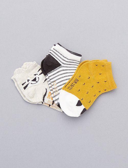 Pack de 3 pares calcetines invisibles                     NEGRO Bebé niña