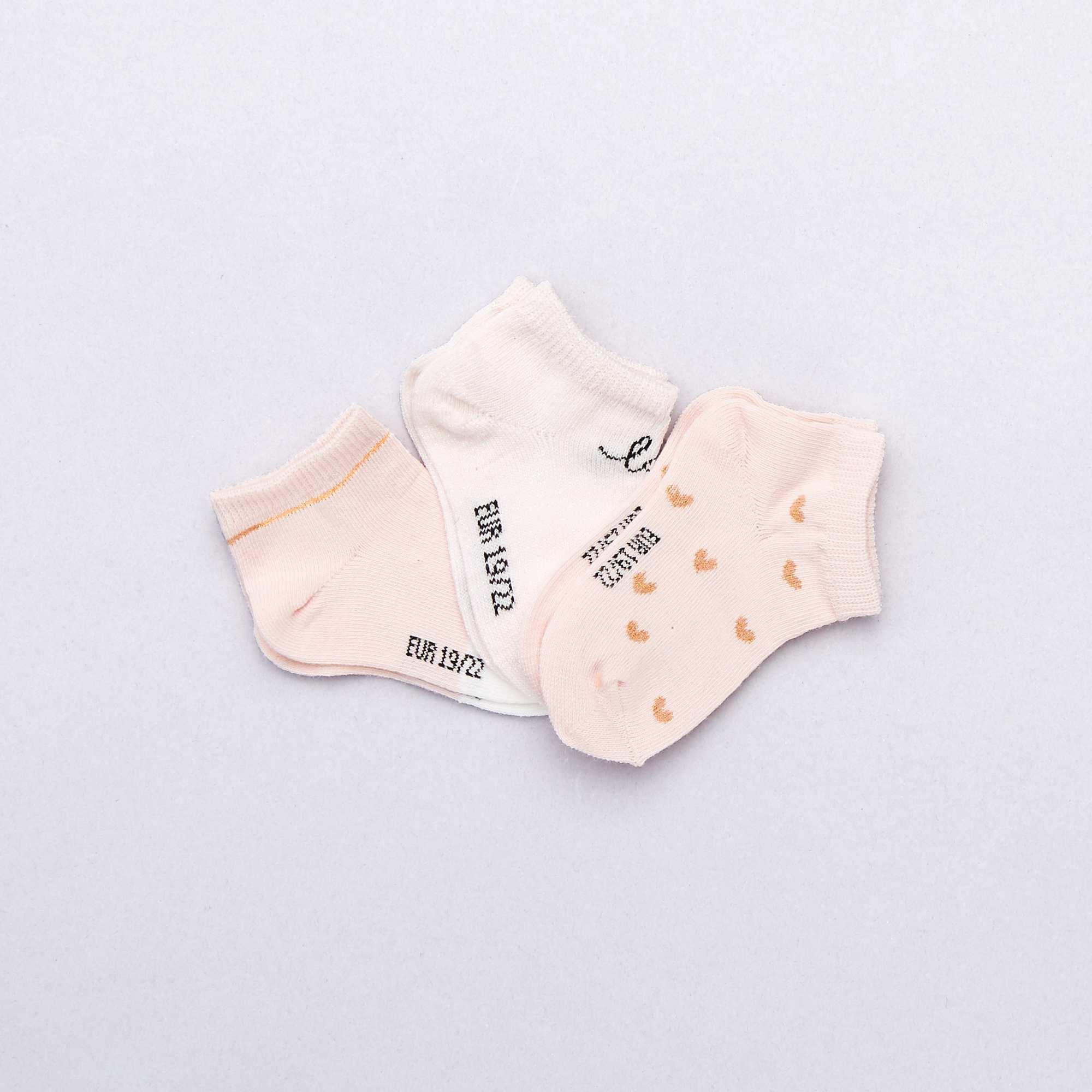 2b7f59b3e Pack de 3 pares calcetines invisibles Bebé niña - ROSA - Kiabi - 4,00€