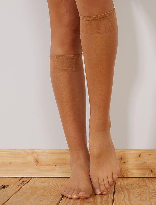 Pack de 3 pares de calcetines 20D                             BEIGE
