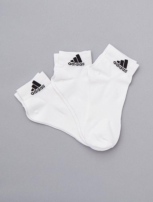 Pack de 3 pares de calcetines 'Adidas'                                                     BLANCO Hombre