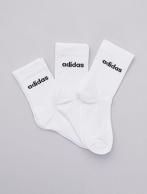 Pack de 3 pares de calcetines 'Adidas'                             BLANCO