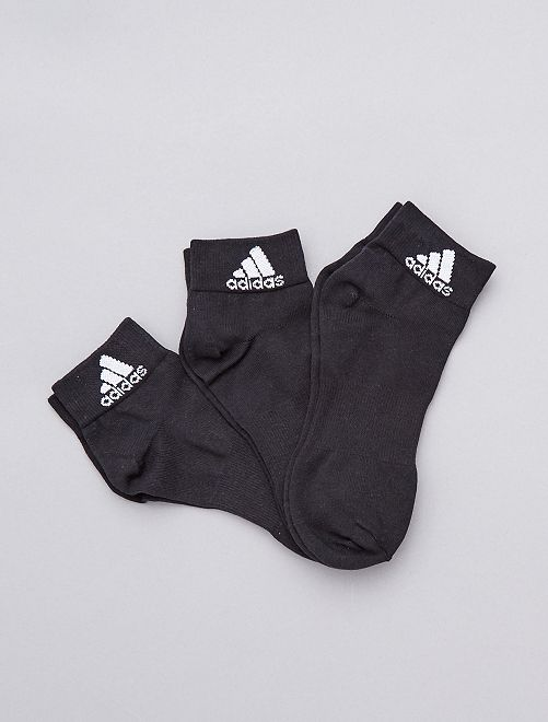 Pack de 3 pares de calcetines 'Adidas'                                                     NEGRO Hombre