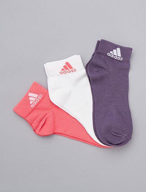 Pack de 3 pares de calcetines 'Adidas'                             ROSA
