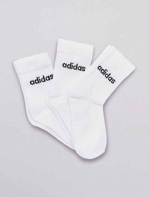 Pack de 3 pares de calcetines altos 'adidas'                             BLANCO
