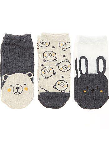 Niña 0-36 meses - Pack de 3 pares de calcetines antideslizantes - Kiabi