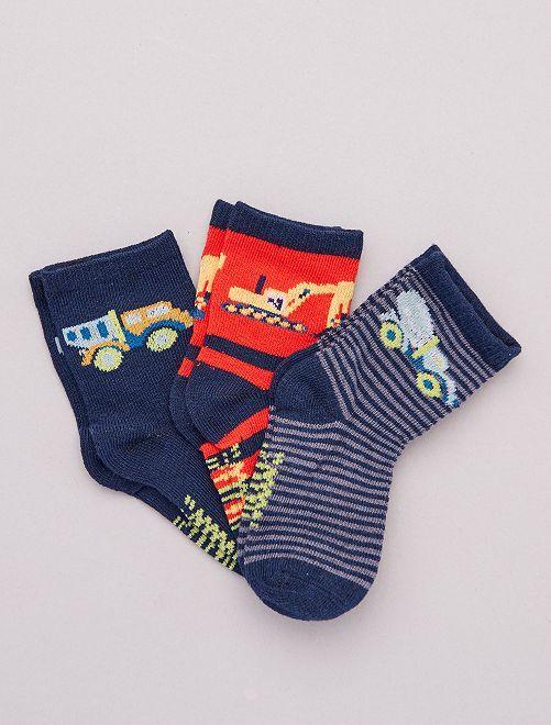 Pack de 3 pares de calcetines                                         AZUL