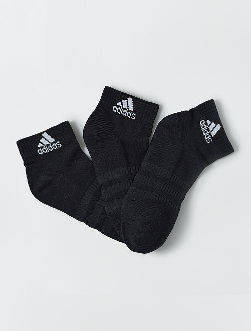 Pack de 3 pares de calcetines bajos 'adidas'                             NEGRO