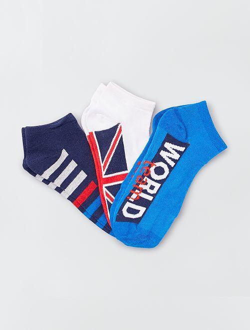 Pack de 3 pares de calcetines bajos                     BEIGE