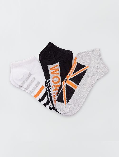 Pack de 3 pares de calcetines bajos                                         GRIS