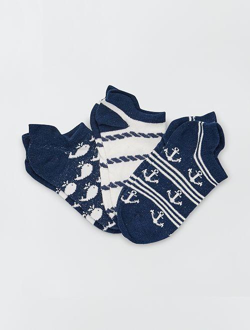Pack de 3 pares de calcetines                                         BEIGE