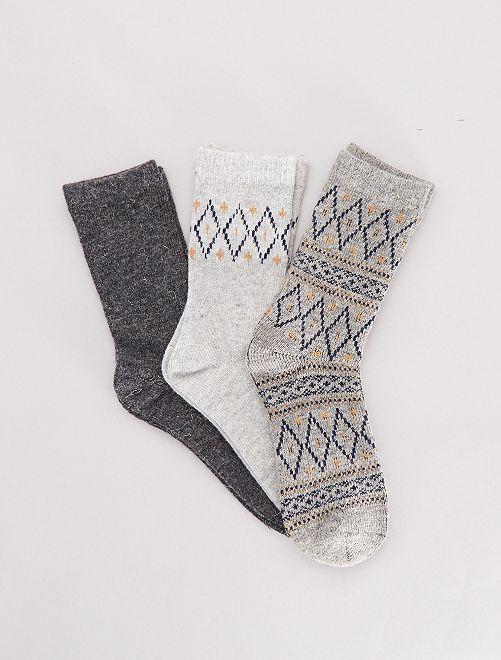 Pack de 3 pares de calcetines cálidos                                         AZUL