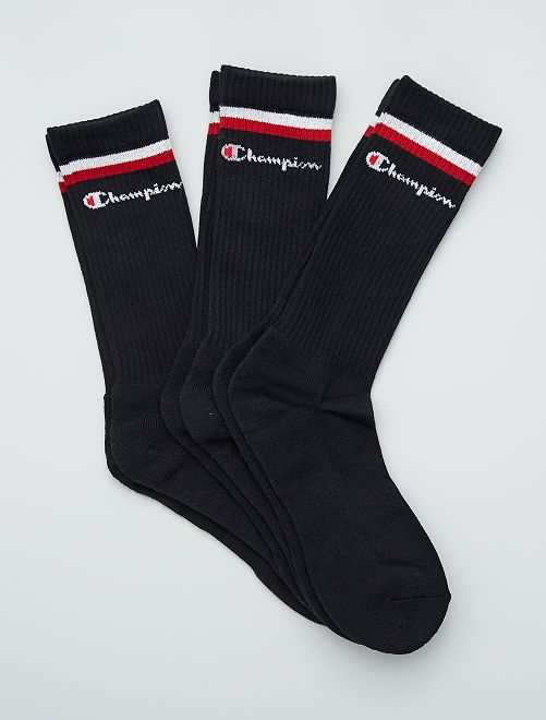 Pack de 3 pares de calcetines 'Champion'                                         NEGRO
