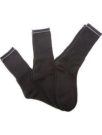 Hombre - Pack de 3 pares de calcetines de deporte - Kiabi