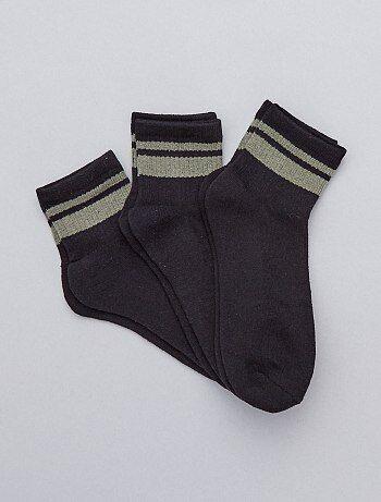 a58f2241d Hombre talla S-XXL - Pack de 3 pares de calcetines de deporte - Kiabi