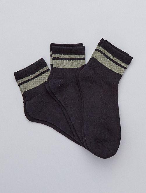Pack de 3 pares de calcetines de deporte                                         NEGRO