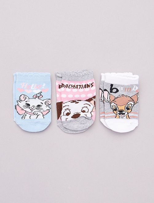 Pack de 3 pares de calcetines 'Disney'                             AZUL