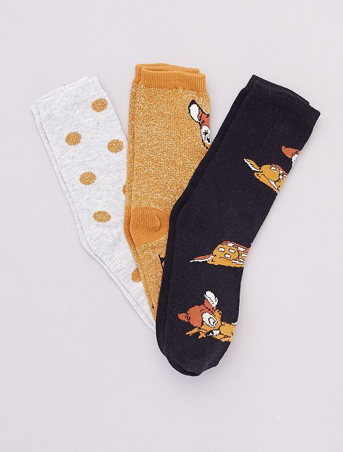 Pack de 3 pares de calcetines 'Disney'                                                                 BEIGE
