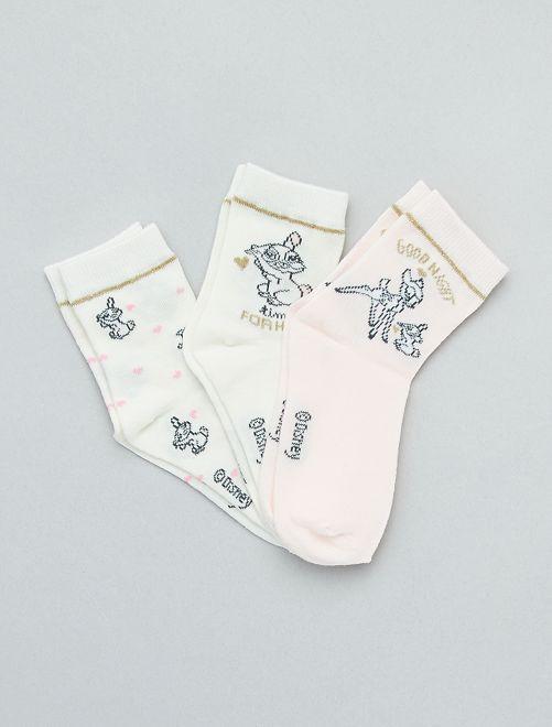 Pack de 3 pares de calcetines 'Disney'                             ROSA