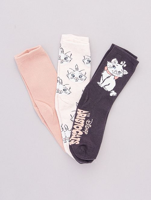 Pack de 3 pares de calcetines 'Disney'                                                                 ROSA