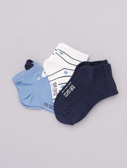 Pack de 3 pares de calcetines 'eco-concepción'                                                     AZUL