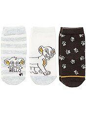 Pack de 3 pares de calcetines 'El rey león'