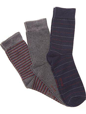 Pack de 3 pares de calcetines fantasía - Kiabi
