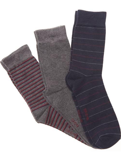 Pack de 3 pares de calcetines fantasía                             NEGRO Tallas grandes hombre