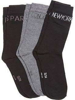 Niña 10-18 años Pack de 3 pares de calcetines grandes ciudades
