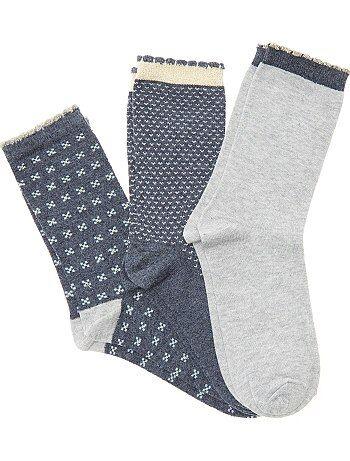 Pack de 3 pares de calcetines - Kiabi