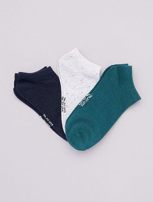 Pack de 3 pares de calcetines invisibles                                                     AZUL