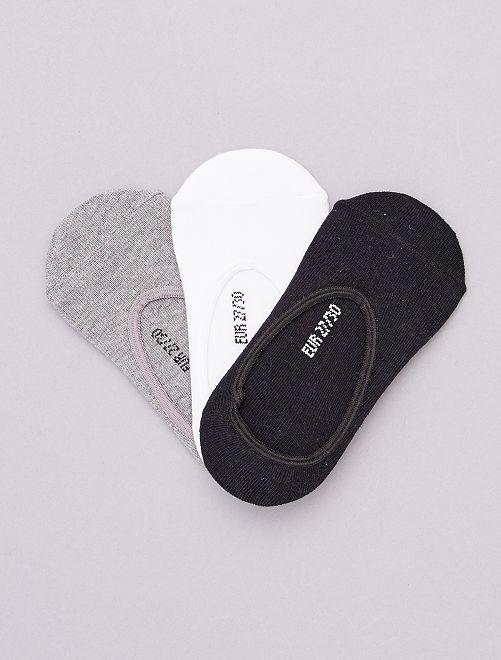 Pack de 3 pares de calcetines invisibles                             BLANCO