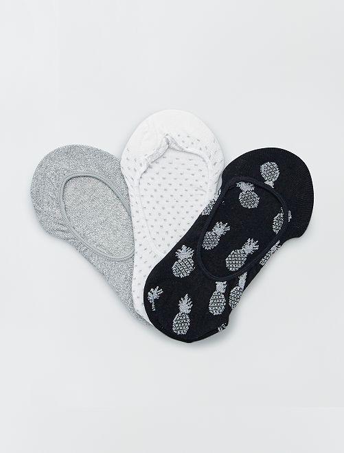 Pack de 3 pares de calcetines invisibles                             GRIS